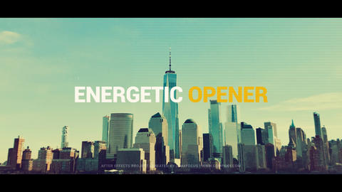Energetic Opener After Effects Template