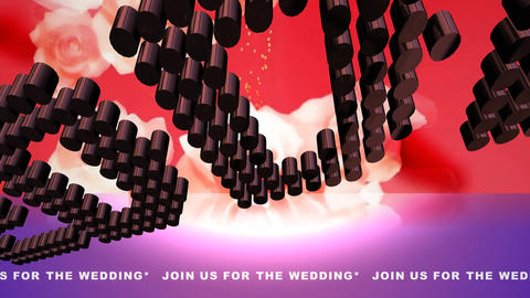 130 Message 'Join us for the wedding' animated wedding... Stock Video Footage