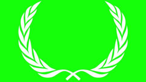 Award Laurel Modern on Green Screen Animation