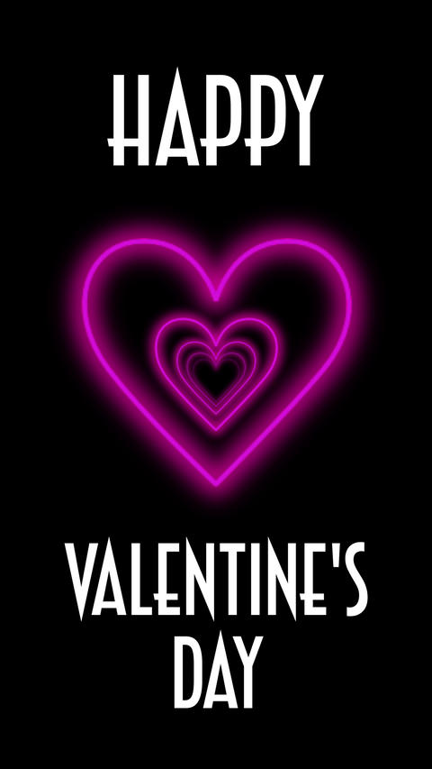 Valentine's day romantic vertical flight heart tunnel loop animation. Love, romance, marriage Animation