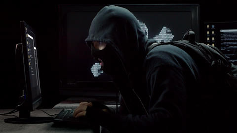 Internet Piracy Hacker Profile Stealing Information Live Action