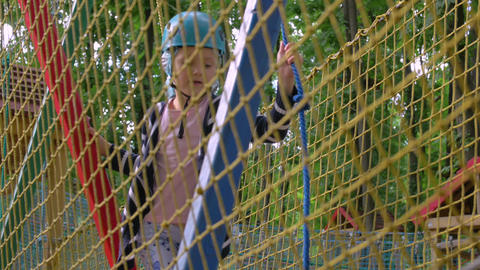 Girl In Adventure Rope Park Live Action