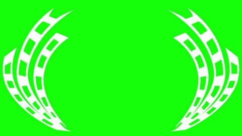 Award Laurel Film Strip on Green Screen Animation