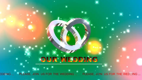 137 Wedding invitation logo message Animation