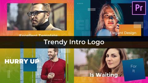 Trendy Intro Logo Premiere Proテンプレート