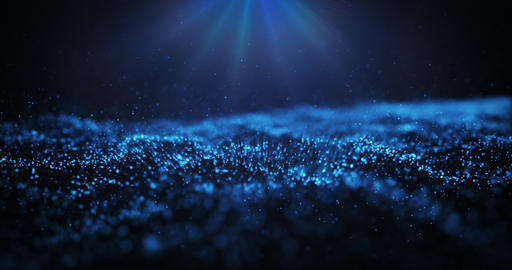 Abstract background with moving and flicker particles Animation