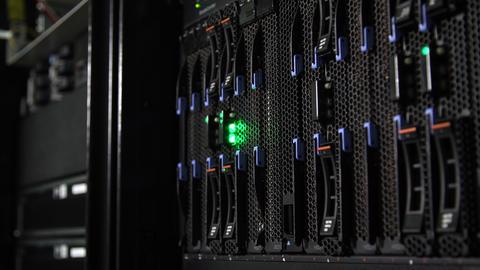 Array Disk Storage In Data Center Footage