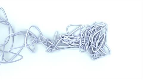 Wire On White BG Animation