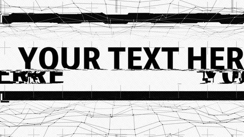 monochrome glitch text After Effectsテンプレート