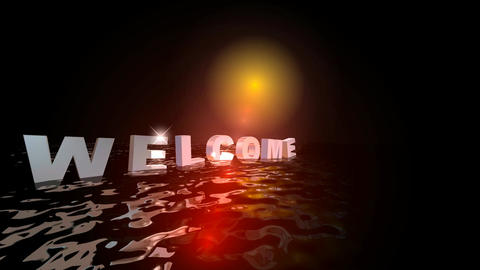 157 WELCOME text message animated template Animation
