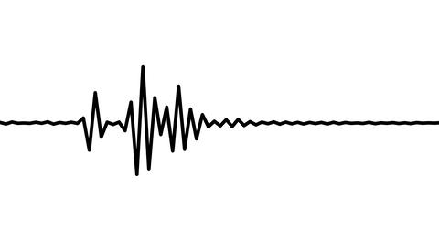 Audio wave form black and white Animation