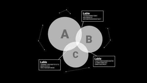 Isolated overlay infographic element - chart with circles Footage