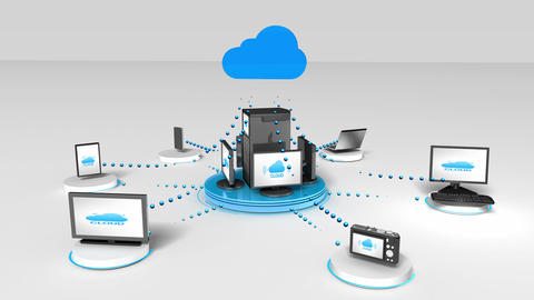 Access Cloud computing service animation Animation