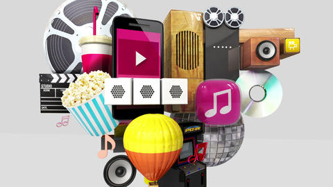 Exploding various entertainment contents in the smart phone, mobile Animation