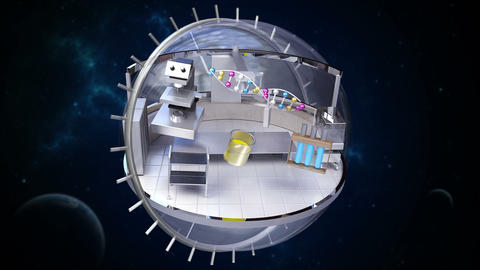 Sciences Laboratory in Rotating sphere Animation