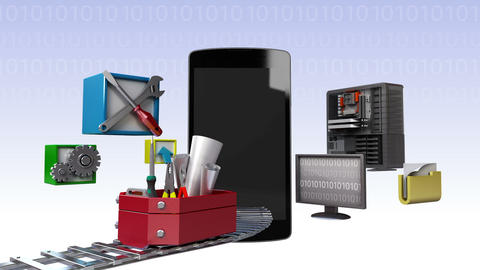 Smart phone,app application tool for developer, programmers 1 Animation