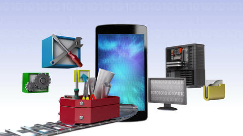 Smart phone,app application tool for developer, programmers 2 Animation