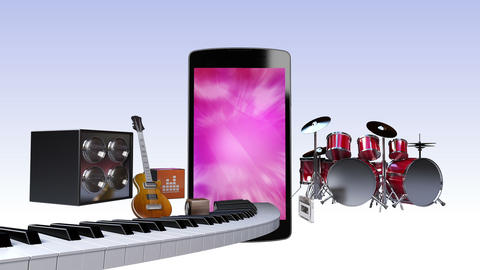 Music contents for Smart phone, Entertainment contents Animation