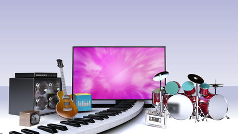 Music contents for Smart TV,Wide TV , Entertainment contents Animation