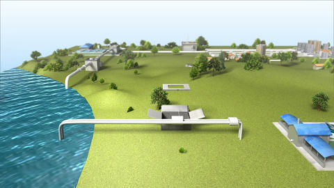 Process Control Water Purification system on Ground Animation