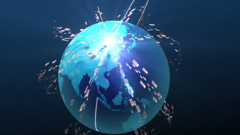 Yuan of the world moving to China(china money) Animation