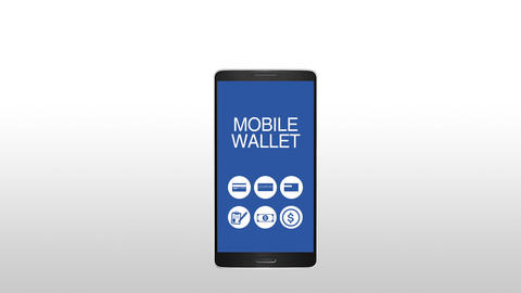 Function explanation for mobile wallet concept animation Animation