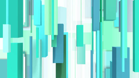 Abstract green background with vertically square Animation