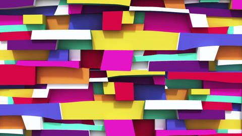 Abstract vivid colorful background with Irregularity rectangular Animation