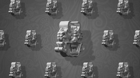 Rotating Oriental white goblins for VJ and stage background 1 Animation