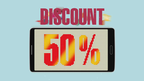 Promotion of Sale, Discount 50%, effective sale alarm.ver 2, Stock Animation