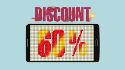Promotion of Sale, Discount 60%, effective sale alarm.ver 2 Animation