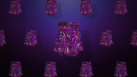 Rotating Oriental crystal goblins for VJ and stage background Animation