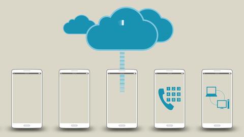 Upload application data to cloud concept 2 애니메이션