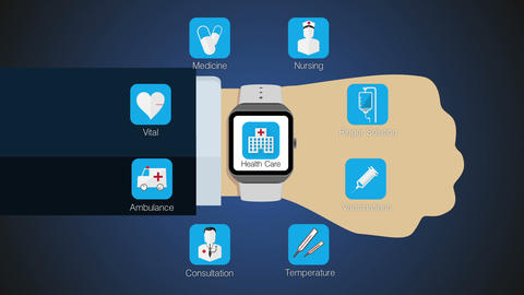 Health care application function for smart watch,mobile watch(included alpha) Animation
