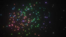 Animated fireworks display Footage