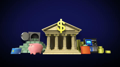 Management bank account, banking life 1 Animation