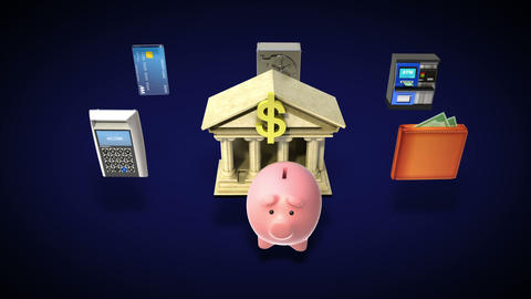 Management bank account, banking life 2 Animation