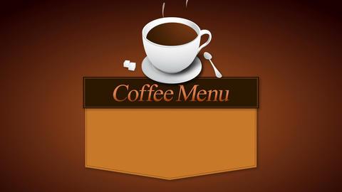 coffee menu board animation(included alpha) Animation