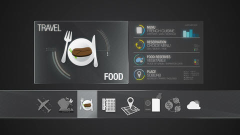 Food icon for travel contents.Digital display application Videos animados