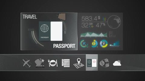 Passport icon for travel contents.Digital display application 애니메이션