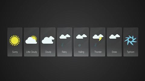 Weather forecast icon set animation 실사 촬영