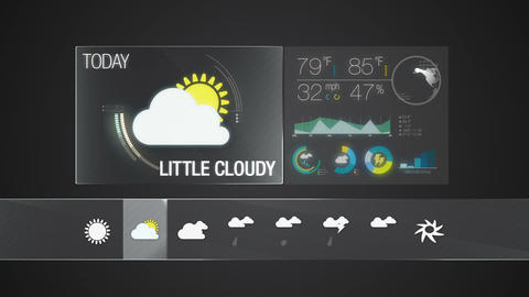Little cloudy icon. Weather icon set animation Live Action