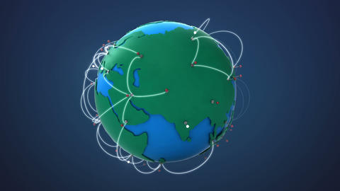 Start Europe, Growing Global Network with communication Animation