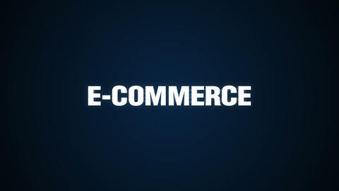 Online, Credit, , Purchasing, Mobile payment, Text animation 'E-COMMERCE' 실사 촬영