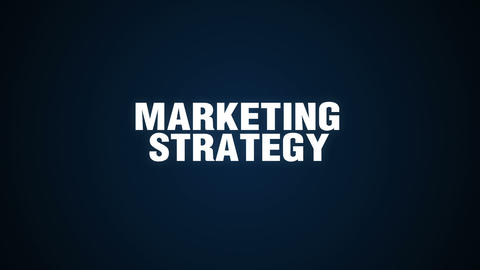 Branding, Solution,Customers, Campaign, Success, Text animation 'Marketing Strat Footage