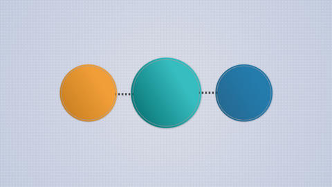 Circle diagram flow chart, 3 circle Animation