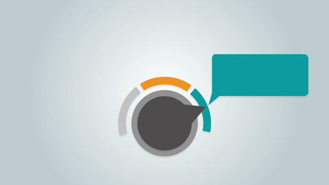 Dial arrow indicate text box diagram 2 Animation
