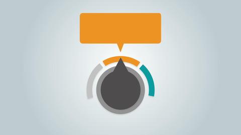 Dial arrow indicate text box diagram 1 Animation
