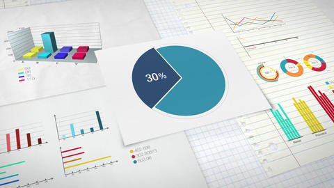 Pie chart indicated 30 percent, Circle diagram for presentation version 1 Animation
