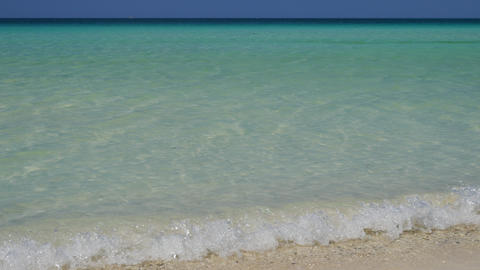 Crystal clear waters of the tropical beach Live Action